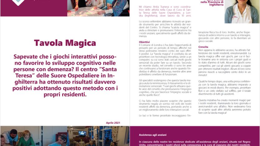 Sapevate che? ….Tavola magica: un'attività del Centro Santa Teresa in Inghilterra