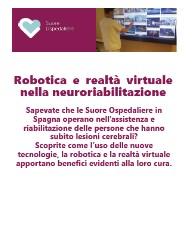 Sapevate che…. Robotica e realtà virtuale nella neuroriabilitazione
